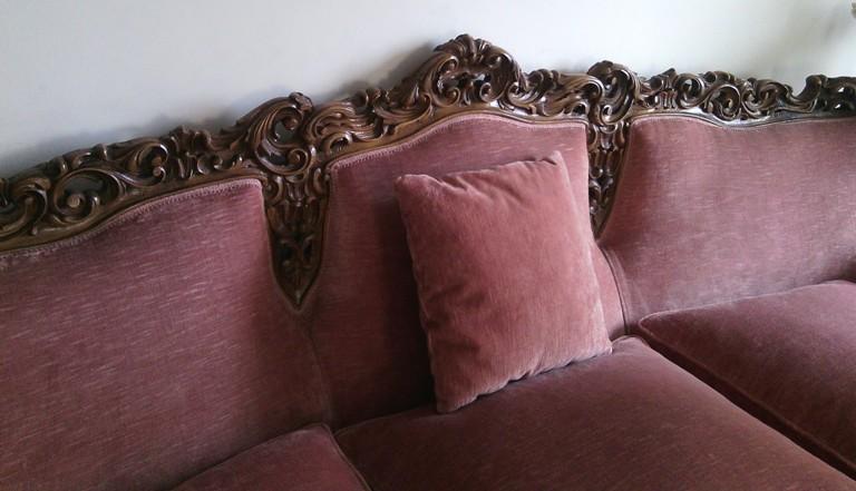 Divano Rosa Antico : Divano luigi xv